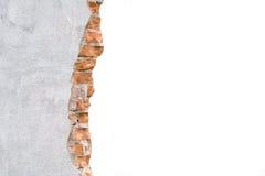 Unterbrochene Betonmauer stockfotografie