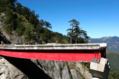 Unterbrochene Brücke Stockfoto