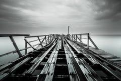 Unterbrochene Brücke Stockbild