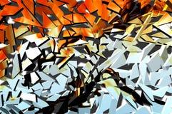Unterbrochene Farben vektor abbildung