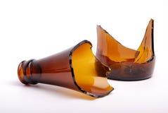 Unterbrochene Flasche Stockfoto