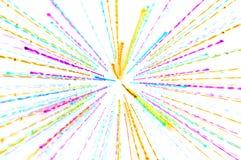 Unterbrochene Linien auf einem hellen Hintergrund Stockfotos