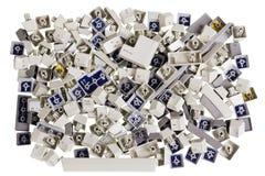 Unterbrochene Plastikkomputer Tasten Lizenzfreie Stockbilder