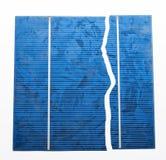 Unterbrochene Solarzelle Stockbild