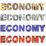 Unterbrochene Wirtschaftlichkeit in vier collors lizenzfreie abbildung