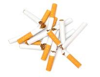 Unterbrochene Zigarette Stockfoto