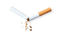 Unterbrochene Zigarette Lizenzfreies Stockfoto