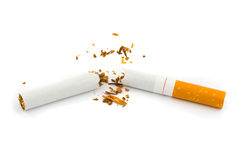 Unterbrochene Zigarette Stockbild