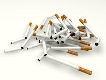 Unterbrochene Zigaretten Stockfoto
