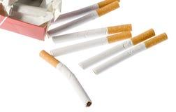 Unterbrochene Zigaretten Lizenzfreies Stockfoto