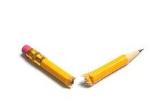 Unterbrochener Bleistift stockfotos