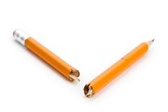 Unterbrochener Bleistift Stockfotografie
