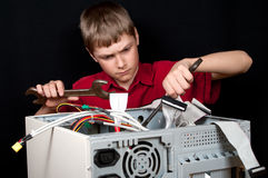 Unterbrochener Computer. Stockbilder