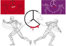 Unterbrochener Frieden Lizenzfreies Stockbild