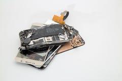 Unterbrochener Handy stockbilder