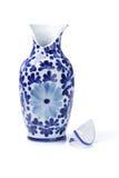 Unterbrochener keramischer Vase Stockfotos