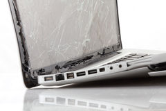 Unterbrochener Laptop Stockbild