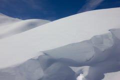 Unterbrochener Schnee Stockfotografie