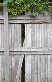 Unterbrochener Zaun Stockfoto