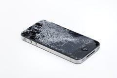 Unterbrochenes Apple iPhone 4 stockbilder