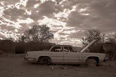 Unterbrochenes Auto im tiefen Süden Stockfotos