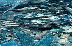 Unterbrochenes blaues Glas Lizenzfreie Stockfotografie