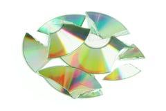 Unterbrochenes CD Lizenzfreie Stockfotografie