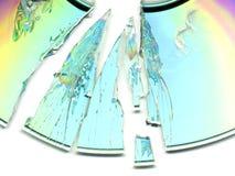 Unterbrochenes CD/DVD Lizenzfreies Stockfoto