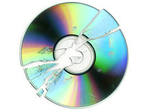Unterbrochenes CD/DVD Stockfotos