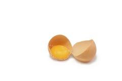 Unterbrochenes Ei zur Hälfte Lizenzfreie Stockfotografie