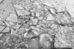 Unterbrochenes Eis Lizenzfreies Stockbild