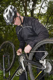 Unterbrochenes Fahrrad Lizenzfreies Stockbild