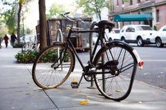 Unterbrochenes Fahrrad Stockfotografie