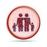 Unterbrochenes Familienkonzept Stockbild