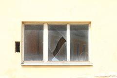 Unterbrochenes Fenster Stockfotografie