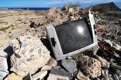 Unterbrochenes Fernsehen Stockfoto