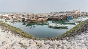 Unterbrochenes Fischerboot Stockbild
