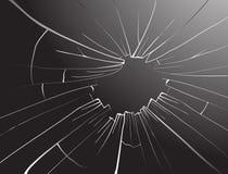 Unterbrochenes Glas. Vektor. Stockbild
