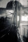 Unterbrochenes Glasfenster Lizenzfreies Stockbild