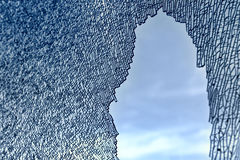Unterbrochenes Glasmuster Stockbilder