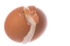 Unterbrochenes halbes gekochtes Huhn-Ei getrennt Stockbild