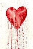 Unterbrochenes Inneres - blutendes Herz Stockfoto