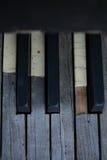 Unterbrochenes Klavier Stockbild