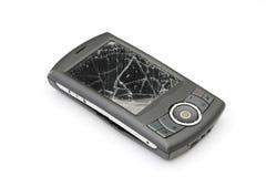 Unterbrochenes smartphone stockfoto