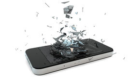 Unterbrochenes Telefon lizenzfreies stockfoto