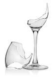 Unterbrochenes Weinglas Stockbild