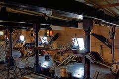 Unterdeck auf Segelschiff Stockbilder