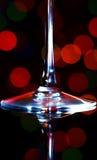 untere Hälfte des Weinglases Lizenzfreies Stockfoto