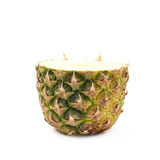 Untere Hälfte einer Ananas lokalisiert Lizenzfreie Stockfotografie