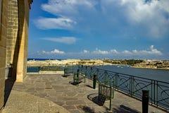 Unteres Barrakka-Garten-La Valletta Malta lizenzfreie stockbilder